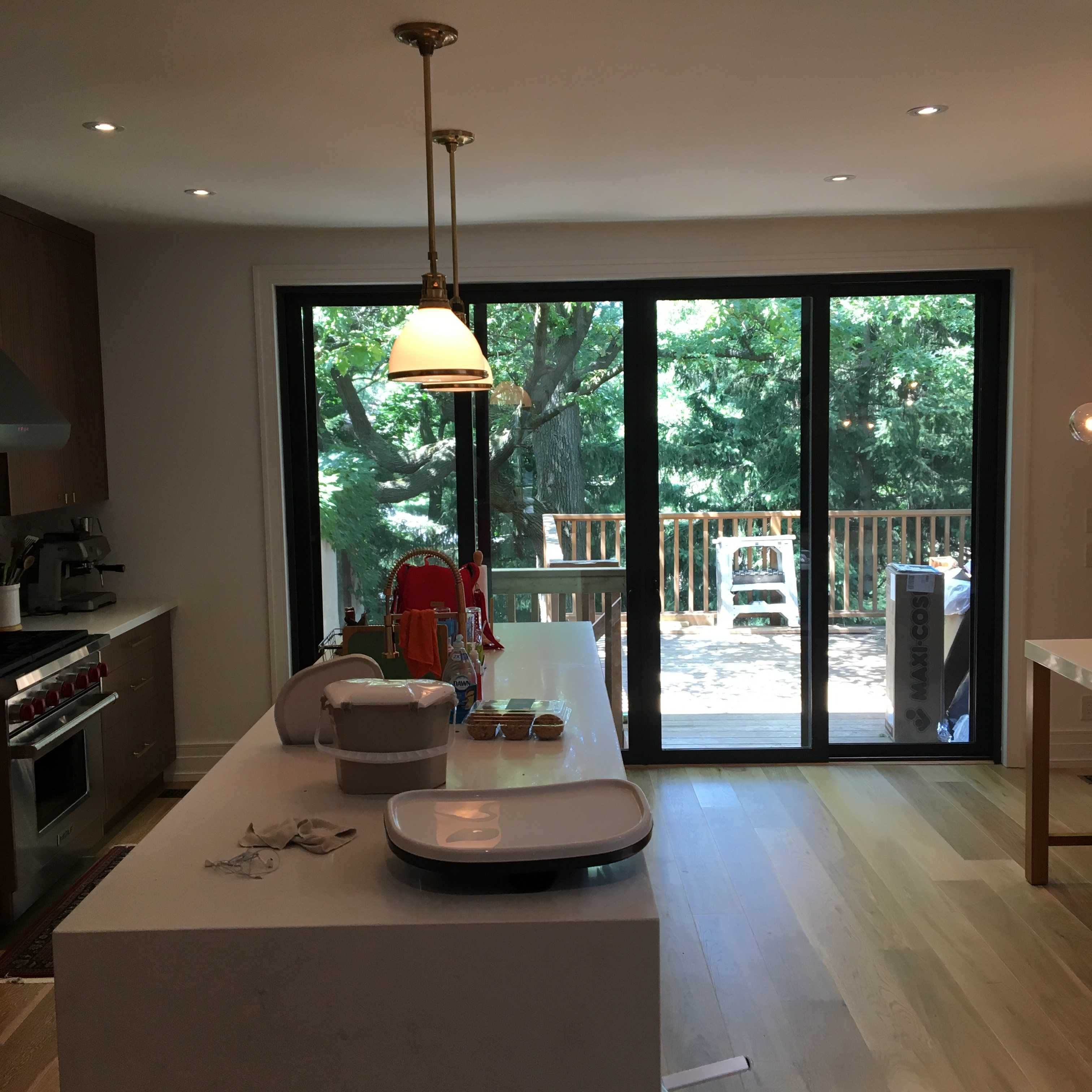 Open concept kitchen and addition. High Park